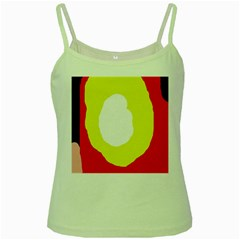 Colorful abstraction Green Spaghetti Tank