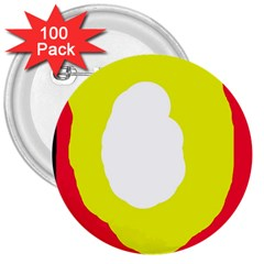 Colorful abstraction 3  Buttons (100 pack)