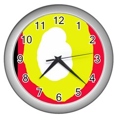Colorful abstraction Wall Clocks (Silver)