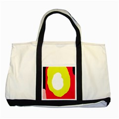 Colorful abstraction Two Tone Tote Bag