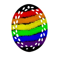 Rainbow Ornament (Oval Filigree)