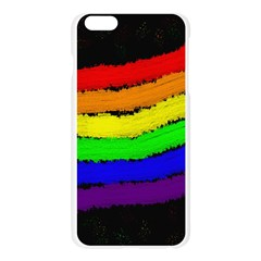 Rainbow Apple Seamless iPhone 6 Plus/6S Plus Case (Transparent)