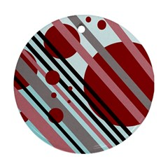 Colorful lines and circles Ornament (Round)
