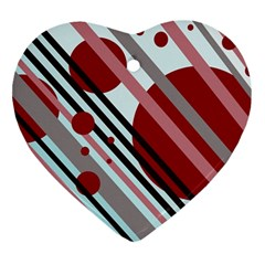 Colorful lines and circles Ornament (Heart)