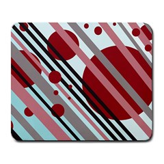Colorful lines and circles Large Mousepads