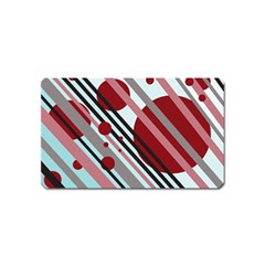 Colorful lines and circles Magnet (Name Card)
