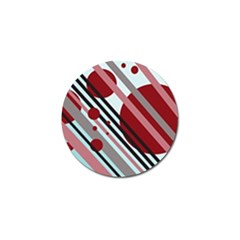 Colorful lines and circles Golf Ball Marker