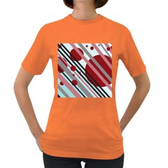 Colorful lines and circles Women s Dark T-Shirt