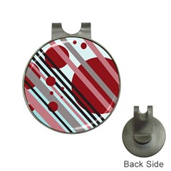 Colorful lines and circles Hat Clips with Golf Markers