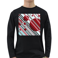 Colorful lines and circles Long Sleeve Dark T-Shirts