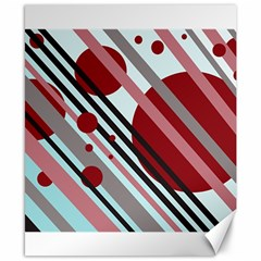 Colorful lines and circles Canvas 8  x 10