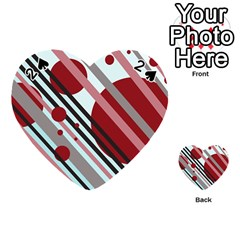 Colorful lines and circles Playing Cards 54 (Heart)