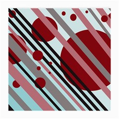 Colorful lines and circles Medium Glasses Cloth (2-Side)