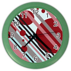 Colorful lines and circles Color Wall Clocks