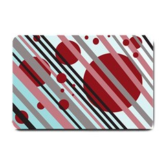 Colorful lines and circles Small Doormat