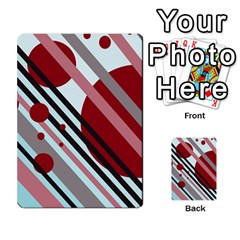 Colorful lines and circles Multi-purpose Cards (Rectangle)