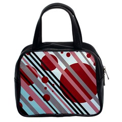 Colorful lines and circles Classic Handbags (2 Sides)