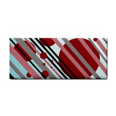 Colorful lines and circles Hand Towel