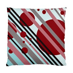 Colorful lines and circles Standard Cushion Case (Two Sides)