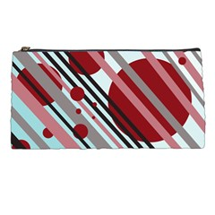 Colorful lines and circles Pencil Cases
