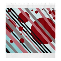 Colorful lines and circles Shower Curtain 66  x 72  (Large)
