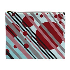 Colorful lines and circles Cosmetic Bag (XL)