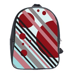 Colorful lines and circles School Bags(Large)
