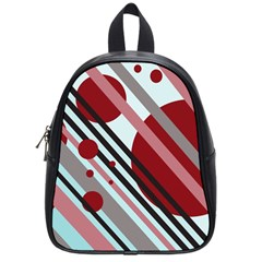Colorful lines and circles School Bags (Small)