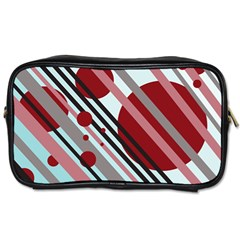 Colorful lines and circles Toiletries Bags 2-Side