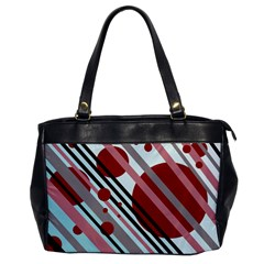 Colorful lines and circles Office Handbags