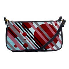 Colorful lines and circles Shoulder Clutch Bags