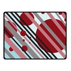 Colorful lines and circles Fleece Blanket (Small)