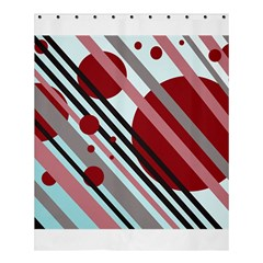 Colorful lines and circles Shower Curtain 60  x 72  (Medium)