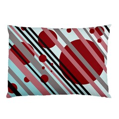 Colorful lines and circles Pillow Case (Two Sides)