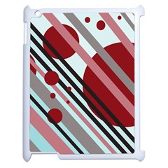 Colorful lines and circles Apple iPad 2 Case (White)