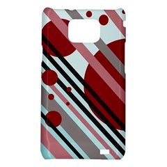 Colorful lines and circles Samsung Galaxy S2 i9100 Hardshell Case