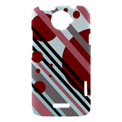 Colorful lines and circles HTC One X Hardshell Case