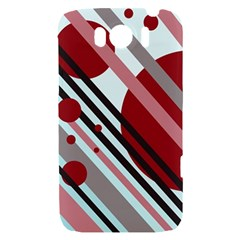 Colorful lines and circles HTC Sensation XL Hardshell Case