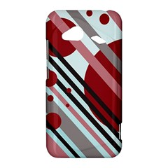 Colorful lines and circles HTC Droid Incredible 4G LTE Hardshell Case