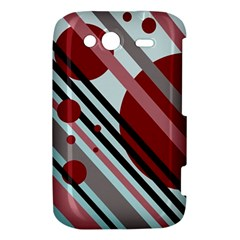 Colorful lines and circles HTC Wildfire S A510e Hardshell Case