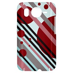 Colorful lines and circles HTC Desire HD Hardshell Case