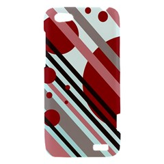 Colorful lines and circles HTC One V Hardshell Case