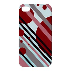 Colorful lines and circles Apple iPhone 4/4S Premium Hardshell Case