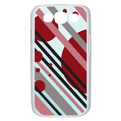 Colorful lines and circles Samsung Galaxy S III Case (White)