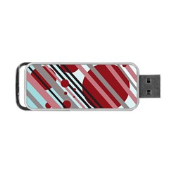 Colorful lines and circles Portable USB Flash (One Side)