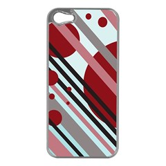 Colorful lines and circles Apple iPhone 5 Case (Silver)