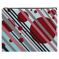 Colorful lines and circles Cosmetic Bag (XXXL)