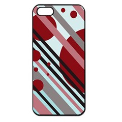 Colorful lines and circles Apple iPhone 5 Seamless Case (Black)