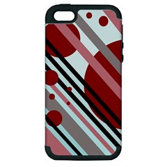 Colorful lines and circles Apple iPhone 5 Hardshell Case (PC+Silicone)