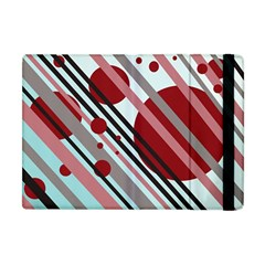 Colorful lines and circles Apple iPad Mini Flip Case